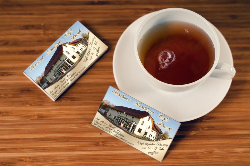 Visitenkarte Bäckerei Busch